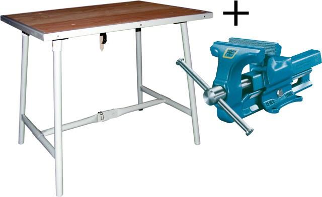 table de travail pliante et vice etaux et tablis appareils redresser outillage sanitaire. Black Bedroom Furniture Sets. Home Design Ideas