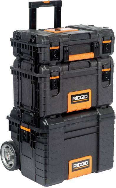 syst me professionnel de rangement des outils ridgid sacoches coffres et caisses outils. Black Bedroom Furniture Sets. Home Design Ideas